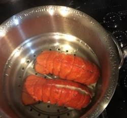 Lobster Tails Steamed in Beer