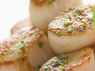 Garlic Scallops over Rice or Pasta