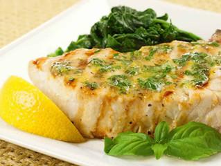 Grilled Swordfish with Lemon-Basil Butter