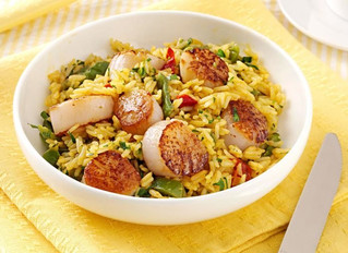 Curry Scallops and Rice