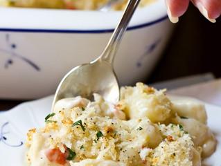 Classic Gnocchi Gratin with Gruyere, Havarti and Crab Meat
