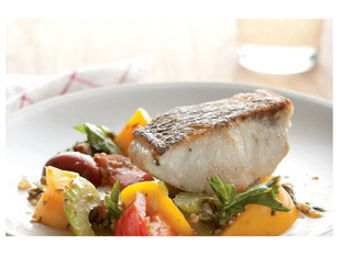 Striped Bass with Heirloom Tomato Scampi: