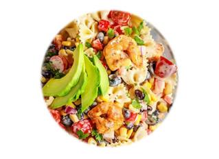 Mexican Pasta Salad with Cajun Shrimp