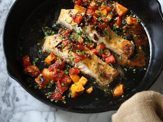 Broiled Rockfish with Provencal Tomatoes and Olives