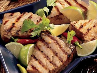Old Bay Grilled Lime Tuna Steak