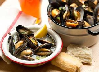 Boston Ale Steamed Mussels