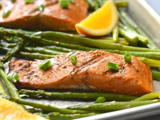 Honey Orange Grilled Salmon & Asparagus