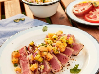 Grilled Ahi Tuna Steak with Jalapeño Pineapple Salsa