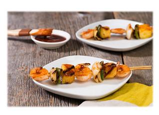 Pineapple & BBQ Shrimp Kabobs