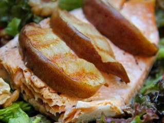 Arctic Char with Grilled Pear