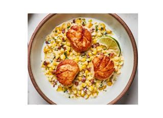Pan-Seared Scallops with Chorizo and Corn