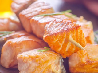 Maple-Rosemary Salmon Skewers