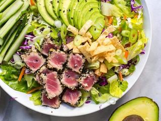 Ahi Tuna Salad with Sesame Ginger Dressing