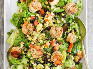 Grilled Shrimp Salad with Corn & Avocado
