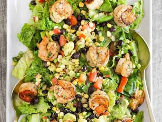 Grilled Shrimp Salad with Corn & Avocado