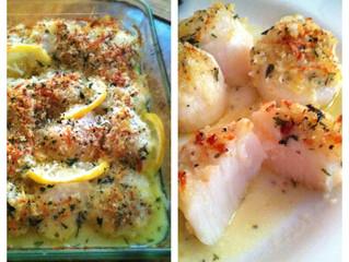 Baked Lemon Truffle Sea Scallops