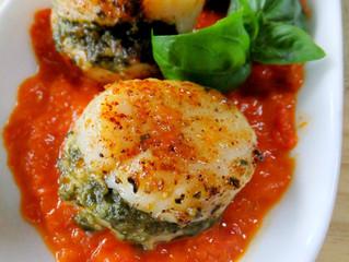 Pesto Stuffed Scallops