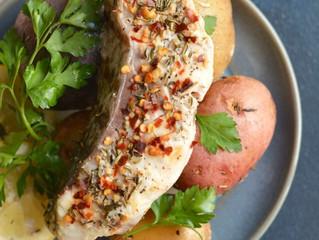 Foil Rockfish & Lemon Garlic Potatoes