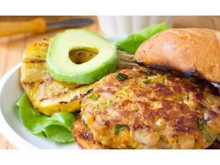 Ahi Tuna Burgers with Grilled Pineapple