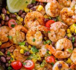 Mexican Shrimp Burrito Bowl