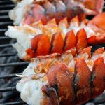 Grilled Lobster Tails with Bourbon Sauce