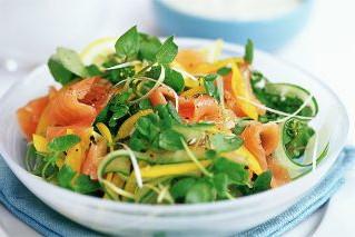 Smoked Salmon Salad with Dijon Honey Dressing