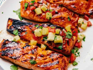 Hawaiian Grilled Salmon Filets