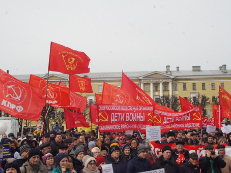 Тысячи петербуржцев вышли на митинг в рамках Всероссийской акции протеста