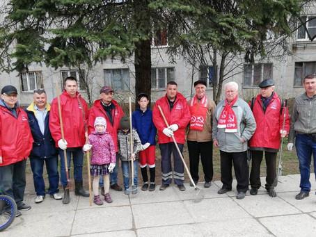 В Невском районе отметили 100-летнюю годовщину первого коммунистического субботника