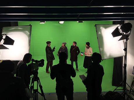 tournage cyclo vert