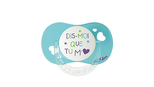 法國Luc et Léa拇指型可愛奶嘴系列(適合6個月以上) 告訴你愛我(湖水藍色) LEL6AT635169_ULOVEME