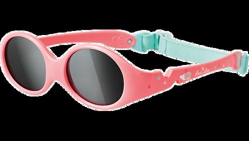 嬰兒防曬淺粉紅色太陽眼鏡(適合0-1歲)