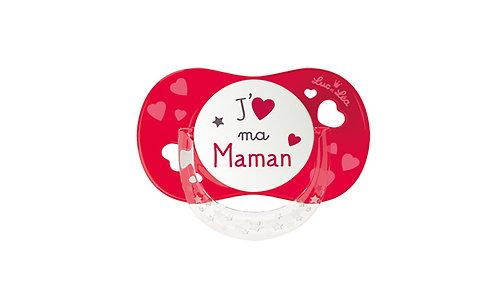 法國Luc et Léa拇指型趣緻奶嘴系列(適合18個月或以上) 我愛媽媽(紅色) LEL18AT635174_REDMAMA
