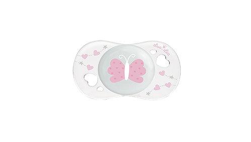 初生寶寶安撫奶嘴系列 (適合0-2個月) 粉紅蝴蝶 LEL0_2_635085_BUTTERFLY