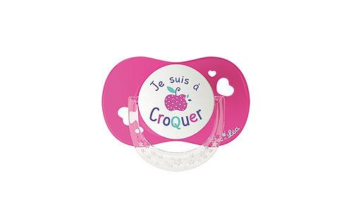 法國Luc et Léa拇指型趣緻奶嘴系列(適合18個月或以上) 粉紅小蘋果 LEL18AT635171_PINKAPPLE