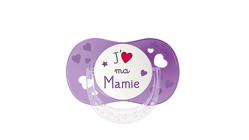 法國Luc et Léa拇指型可愛奶嘴系列(適合6個月以上) 我愛嫲嫲(紫色) LEL6AT635168_PURPLEGMA