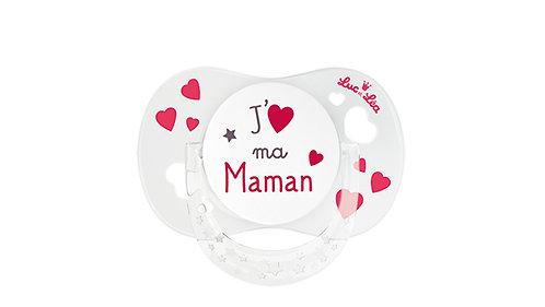 法國Luc et Léa拇指型愛心奶嘴系列(適合0個月以上) 我愛媽媽 LEL0ATT635159_MAMA