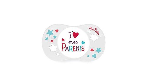 法國Luc et Léa趣緻奶嘴系列(適合18個月或以上) 我愛父母 LEL18A635080_PARENTS