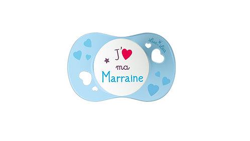 法國Luc et Léa彩色愛意奶嘴系列(適合6個月以上) 我愛母親(藍色) LEL6AJ635187_BLUEMARRAINE