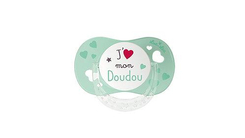 法國Luc et Léa拇指型可愛奶嘴系列(適合6個月以上) 我愛毛绒玩具(淺綠色) LEL6AT635169_DOUDOU