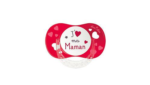法國Luc et Léa拇指型可愛奶嘴系列(適合6個月以上) 我愛媽媽(紅色) LEL6AT635165_REDMAMA