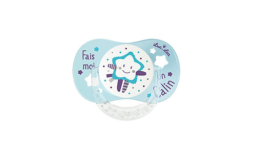 法國Luc et Léa拇指型可愛奶嘴系列(適合6個月以上) 淺藍色小星星 LEL6AT635166_BLUESTAR