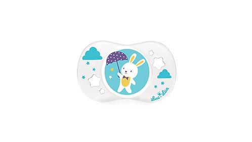 法國Luc et Léa趣緻奶嘴系列(適合18個月或以上) 小雨傘白兔仔 LEL18A635093_RABBIT