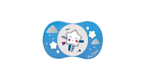 法國Luc et Léa卡通奶嘴系列(適合6個月以上) 藍色小星星 LEL6A635188-BlueStar
