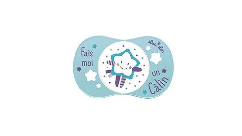 法國Luc et Léa卡通奶嘴系列(適合6個月以上) 淺藍色小星星 LEL6A635036_BLUESTAR