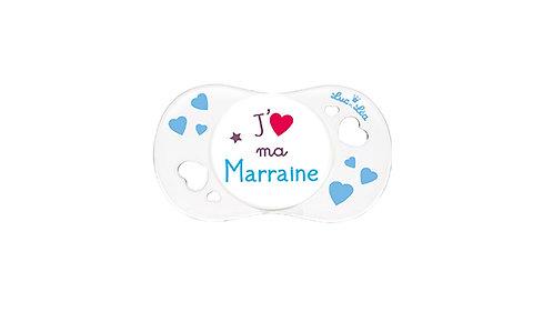 法國Luc et Léa愛心奶嘴系列(適合0個月以上) 我愛母親(白色) LEL0AJ635186_WHITEMARRAINE