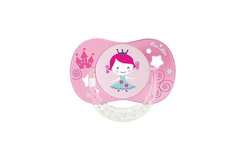 法國Luc et Léa拇指型可愛奶嘴系列(適合6個月以上) 粉紅色小女孩 LEL6AT635166_PRINCESS
