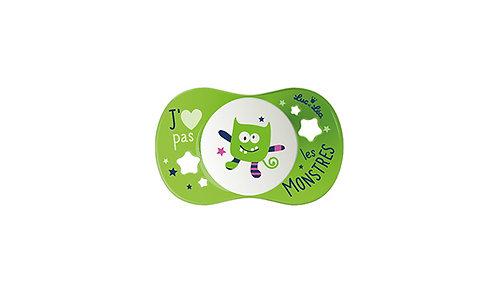 法國Luc et Léa趣緻奶嘴系列(適合18個月或以上) 可愛小靈精(綠色) LEL18A635121_MONSTER