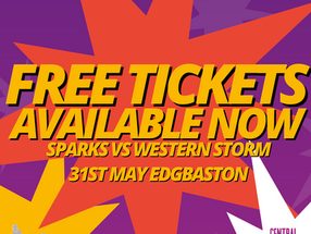 TICKETS AVAILABLE FOR SPARKS VS WESTERN STORM