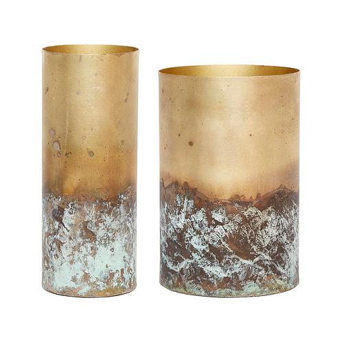 Vase, Gold, 2er Set